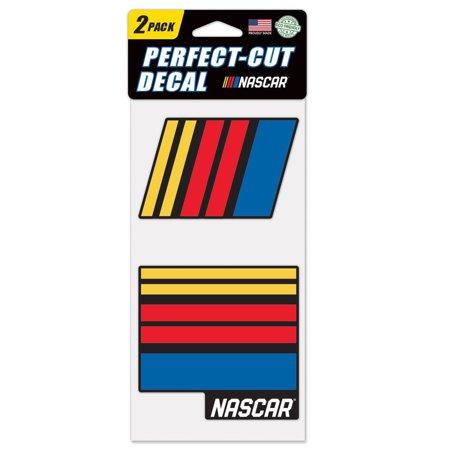 NASCAR Merchandise WinCraft 2-Pack 4'' x 4'' Perfect Cut Decals - No Size