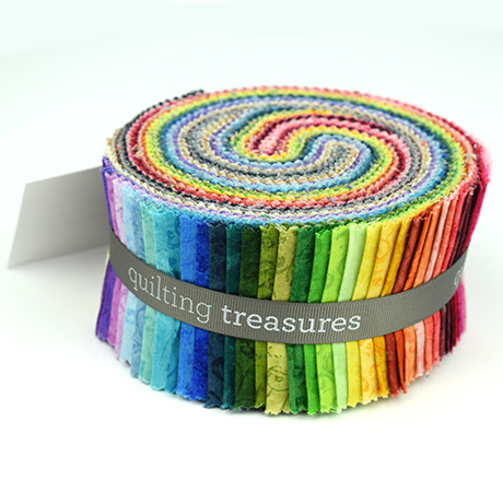 "Quilting Temptations-50, 2.5"" x 44"" Cotton Strips for Quilting Treasures"