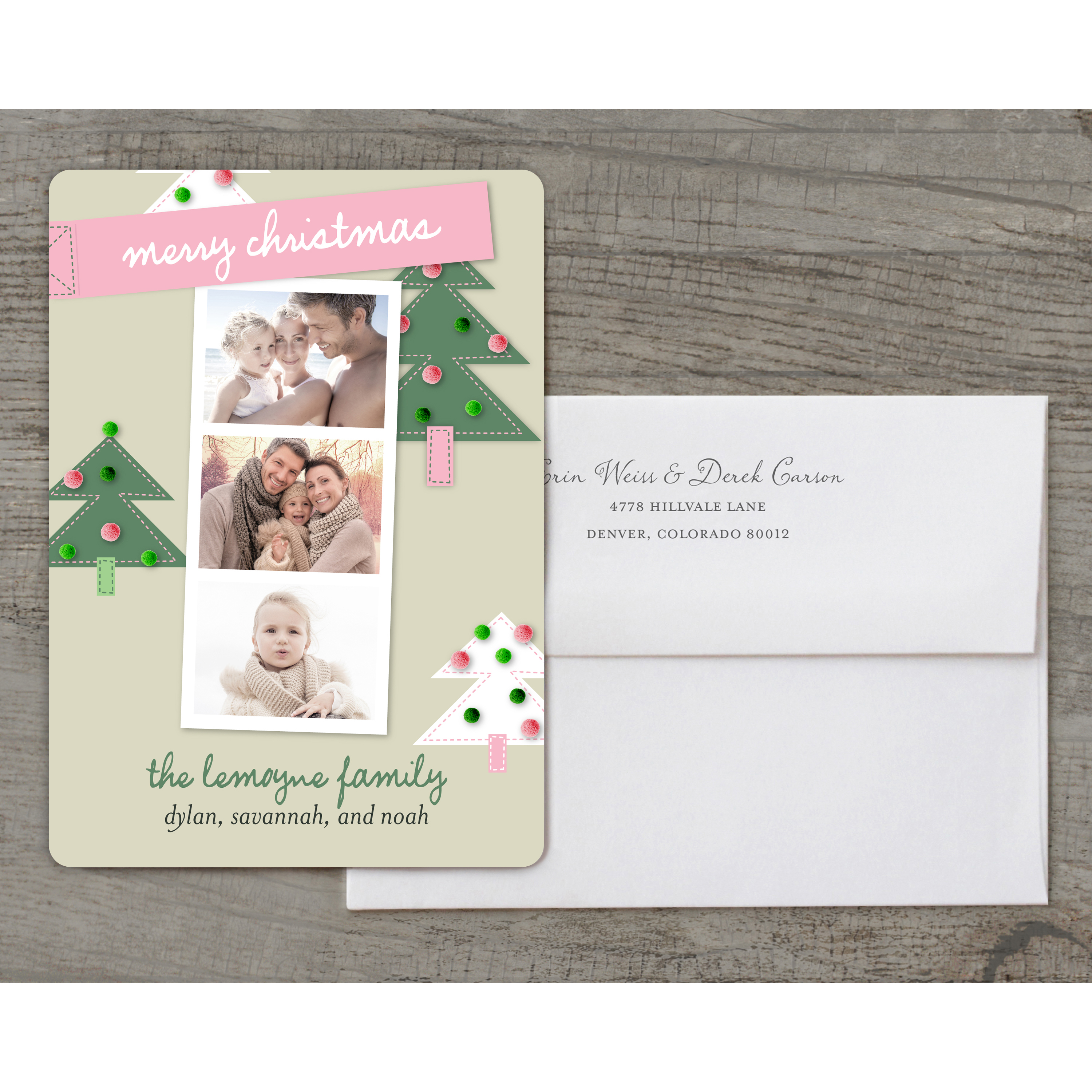 Holiday Memories - Deluxe 5x7 Personalized Holiday Christmas Card