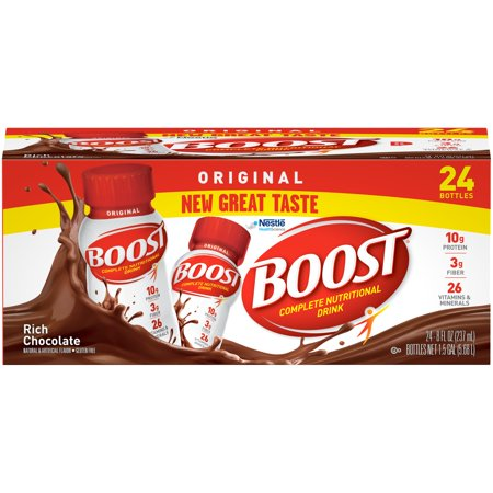 Boost Original Complete Nutritional Drink, Rich Chocolate, 8 fl oz Bottle, 24