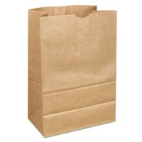 General Supply Duro Fold Top Paper Bag, 12 lbs, Brown, 500 Ct