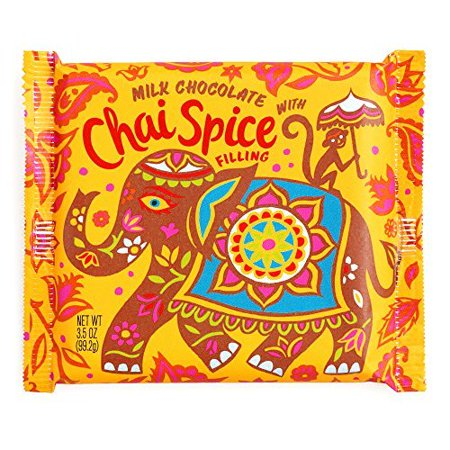 Chai Tea Milk Chocolate Bar 3 oz each (5 Items Per Order)