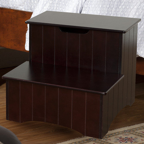 InRoom Designs 2-Step Manufactured Wood Storage Step Stool