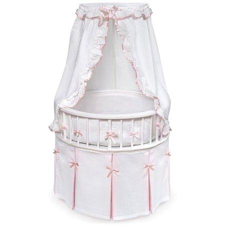 Click here for Badger Basket White Elegance Round Baby Bassinet... prices