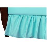 TL Care 100 Percent Cotton Percale Crib Bed Skirt, Aqua
