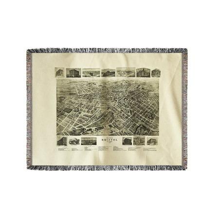 60x80 Super Plush Throw (Bristol, Tennessee - Panoramic Map (60x80 Woven Chenille Yarn)