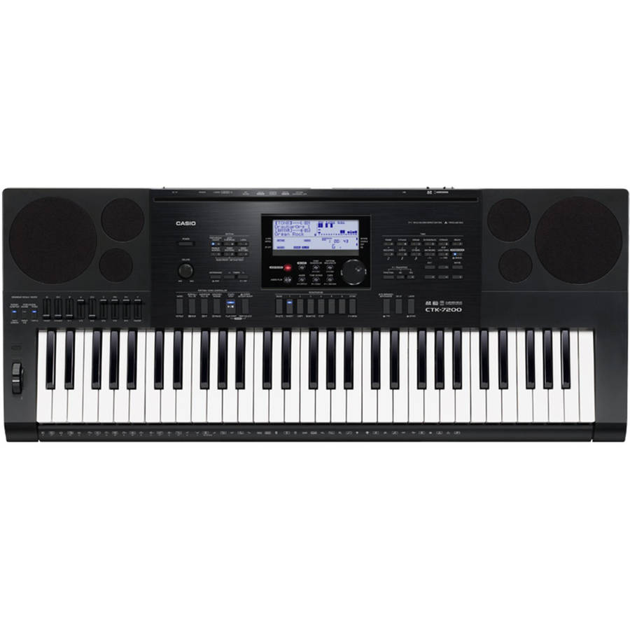 Casio CTK-7200 61-Key Personal Keyboard with Power Supply