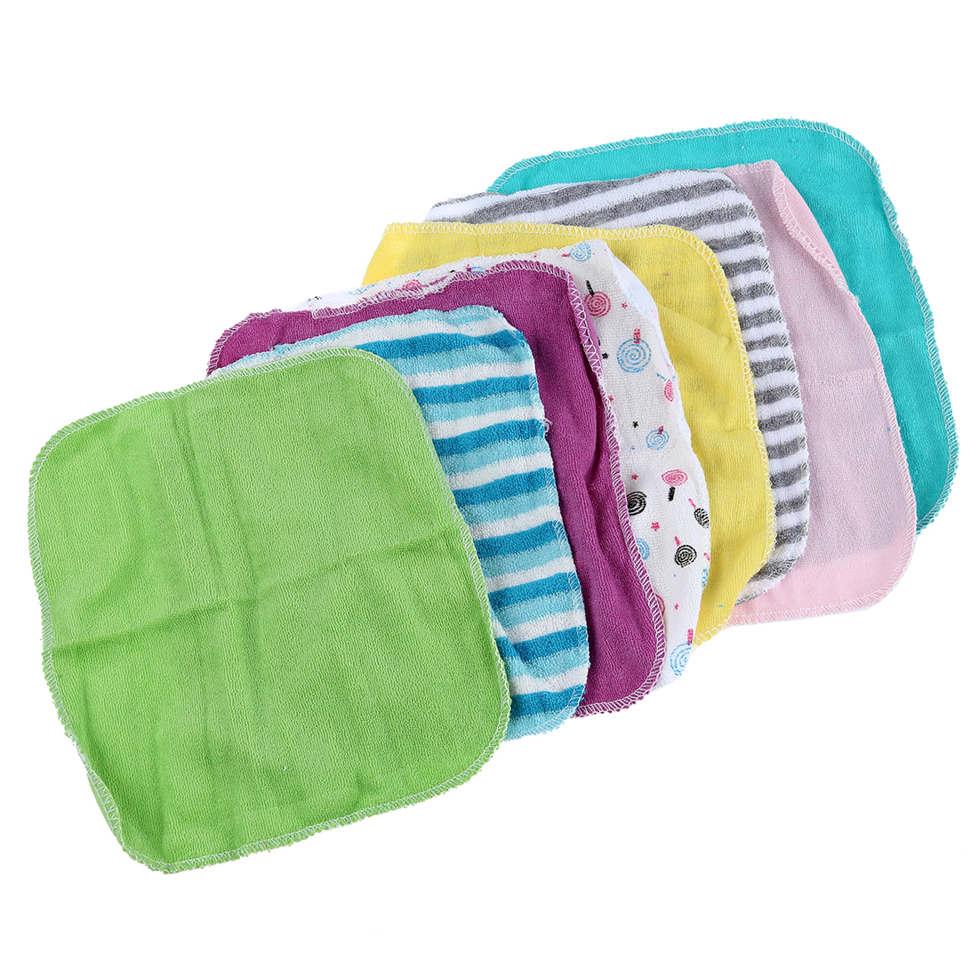 THZY Baby Face Washers Hand Towels Cotton Wipe Wash Cloth 8pcs/Pack