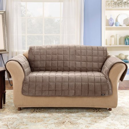 Surefit Quilted Velvet Deluxe Sofa Pet Throw Cover