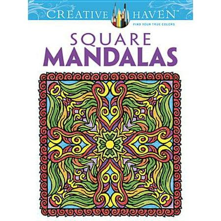 Creative Haven Square Mandalas Coloring Book (Halloween Coloring Squared)