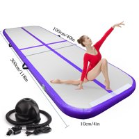 FBSPORT 10ft/3m Inflatable Gymnastics Airtrack Tumbling Mat Air Track Floor Mats Electric Air Pump Home Use/Training/Cheerleading/Beach/Park Water