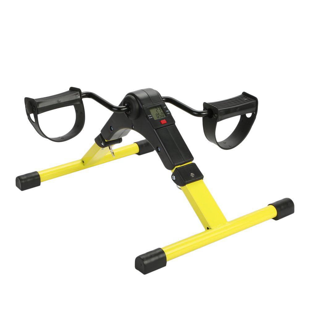 Portable Pedal Exerciser by Vive - Arm & Leg Exercise Peddler Machine - Low Impact Desk Cycle - Fitness Equipment for Seniors and Elderly - Folding Exercise Bike (Yellow)