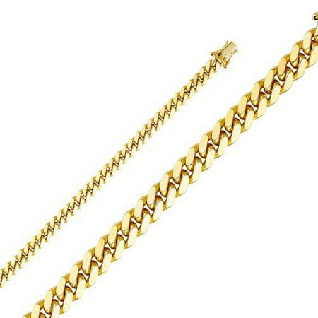 14K Yellow Gold Men Women's 5.9MM Miami Cuban Chain Box Clasp (26) (14k Twisted Jewelry Box)