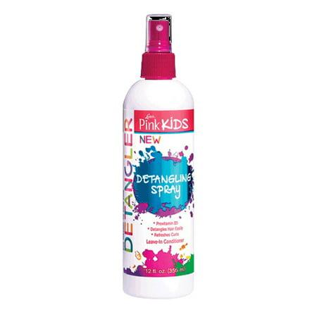 Lusters Pink Kids Detangling Hair Spray, Sulfate Free, 12 Oz