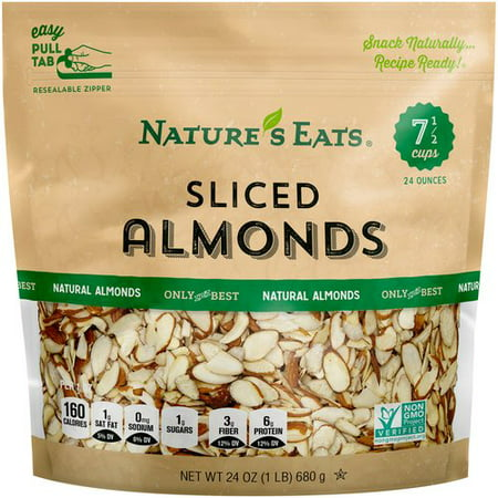 Nature's Eats Sliced Almonds, 24 (Tagua Nut Slices)