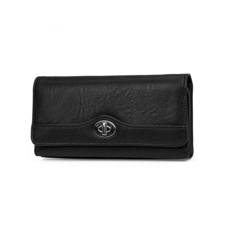 MUNDI File Master Womens RFID Blocking Wallet Clutch Organizer With Change Pocket Trim Wallet Clutch