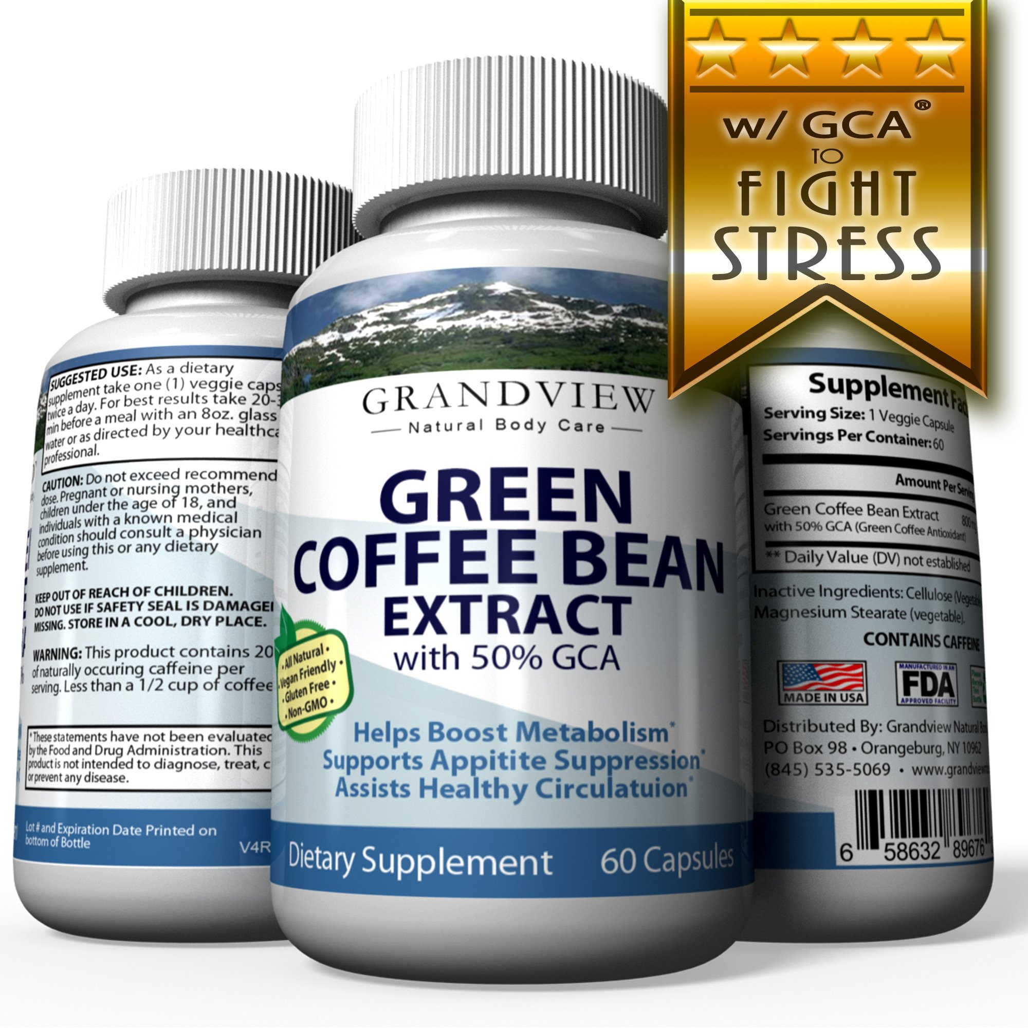 Green Coffee Bean W Gca Helps Suppress Appetite Boosts