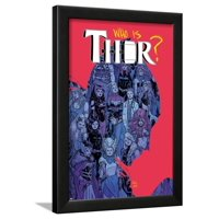 Thor No. 6 Cover, Featuring: Captain Marvel, Loki, Angela, Valkyrie, Frigg, Sif, Enchantress Framed Poster Wall Art By Russell Dauterman
