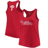 Philadelphia Phillies Soft as a Grape Women's Plus Size Swing for the Fences Racerback Tank Top - Red