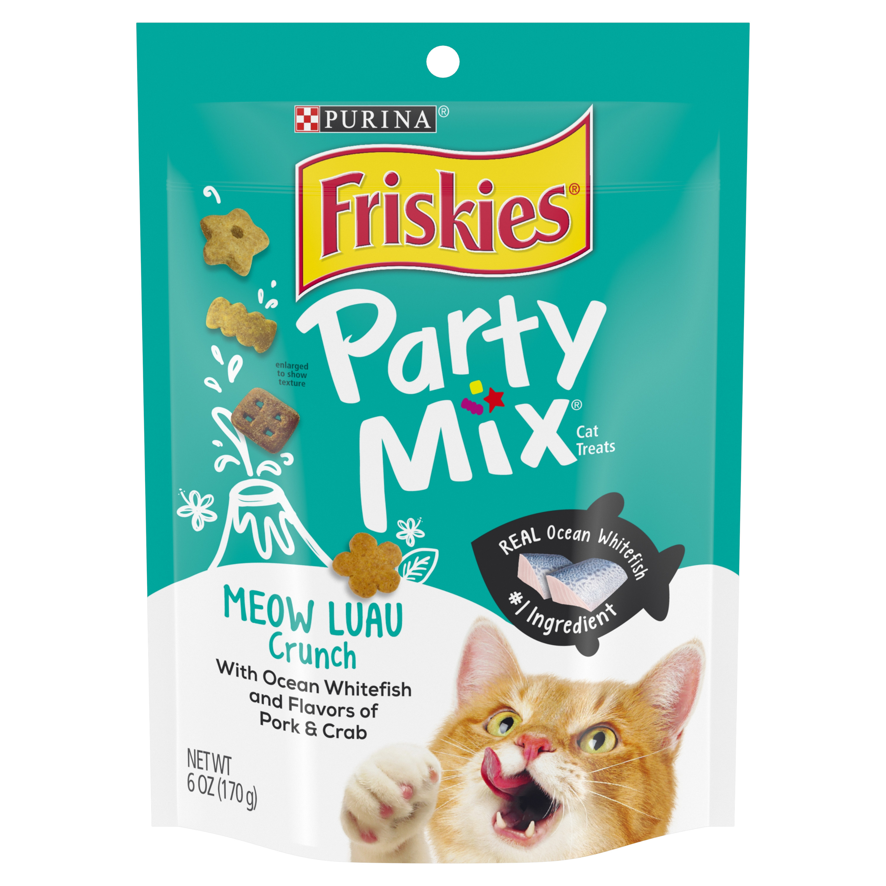 Purina Friskies Party Mix Meow Luau Crunch Adult Cat Treats - 6 oz. Pouch