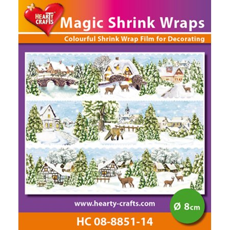 Hearty Crafts Magic Shrink Wraps. Winter Village  (8cm) - Michaels Arts And Crafts Halloween Village