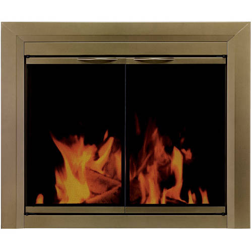 Pleasant Hearth Cabinet Style Fireplace Glass Door, Chandellar Antique, CH-3200