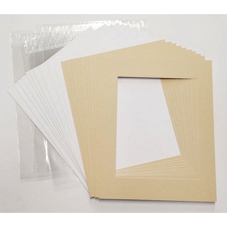 16x20 White Picture Mats with White Core for 11x14 Pictures - Fits 16x20 Frame Frame Purple Lens