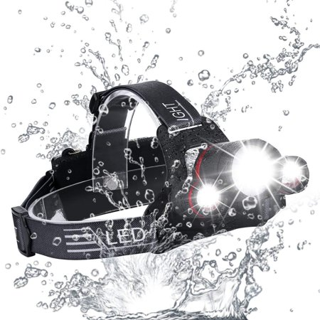 2019 NEW Brightest and Best LED Headlamp Design 18000 Lumen flashlight-IMPROVED CREE LED Usb Rechargeable 18650 headlight flashlights Waterproof Hard Hat Light Bright Head Lights Camping Running (Best New Hard Rock Bands 2019)