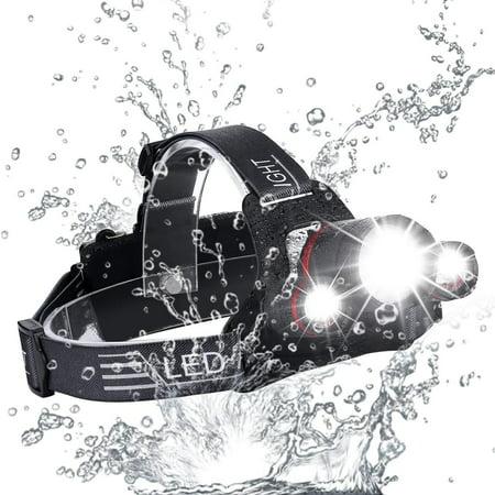 2019 NEW Brightest and Best LED Headlamp Design 18000 Lumen flashlight-IMPROVED CREE LED Usb Rechargeable 18650 headlight flashlights Waterproof Hard Hat Light Bright Head Lights Camping Running