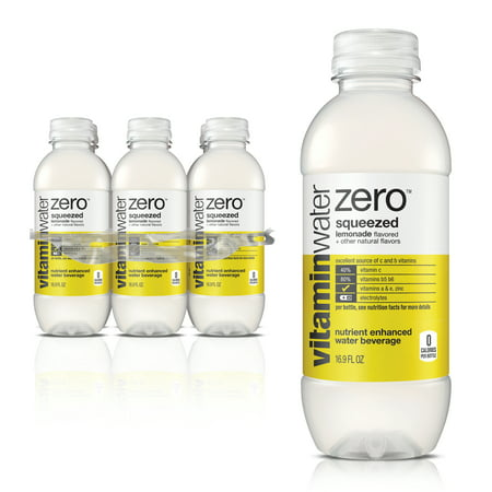 (4-pack) Vitaminwater Zero, Squeezed, 16.9 Fl Oz, 6 Count