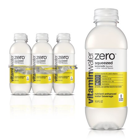 (4-pack) Vitaminwater Zero, Squeezed, 16.9 Fl Oz, 6