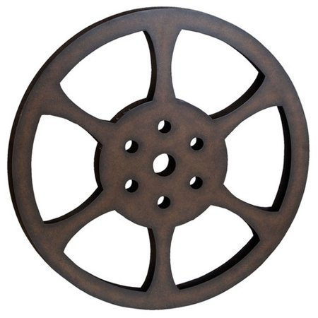 Ec World Imports Hollywood 32 Metal Film Reel Home Movie Theater Accent Art Wall Decor