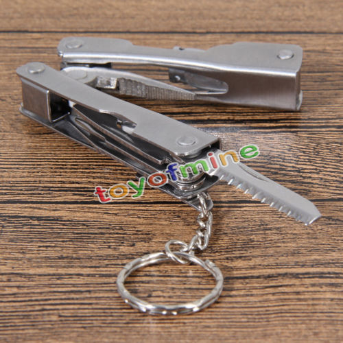 9In1Outdoor Use Survival Stainless Steel Multi Tool Plier Portable Compact