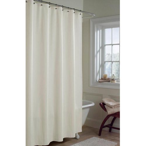Maytex Microfiber Fabric Shower Curtain Liner