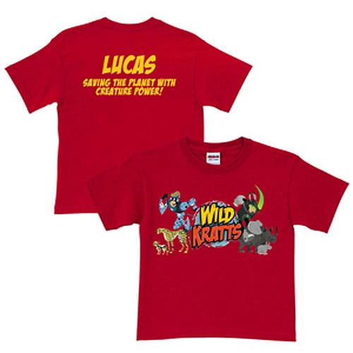 Personalized Wild Kratts Creature Adventure Toddler Boy T-Shirt