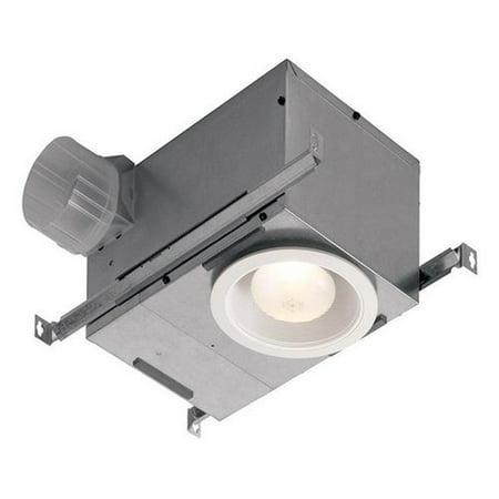 Broan 744LED 70 CFM 1.5 Sone Ceiling Mounted HVI Certified Bath Fan with LED Lig