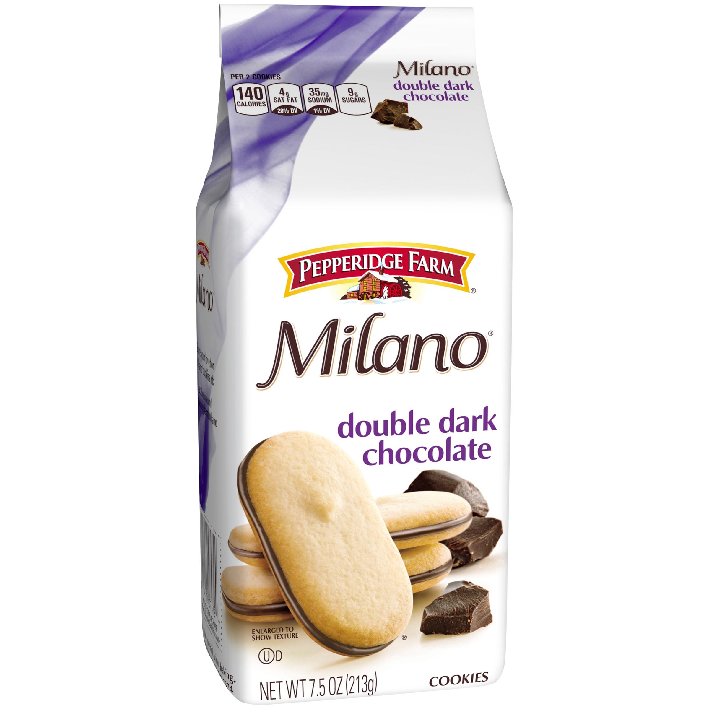Milano Double Dark Chocolate Cookies - 7.5oz - Pepperidge Farm