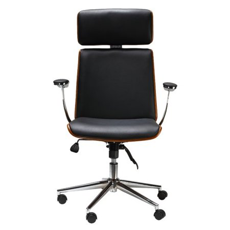 brayden studio redmayne swivel genuine leather office chair