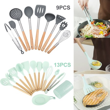 9/13Pcs Nonstick Cookware Set Silicone Spatula Spoon Kitchen Utensils DIY Kitchen Cooking Tools Silicone Cooking Spoon
