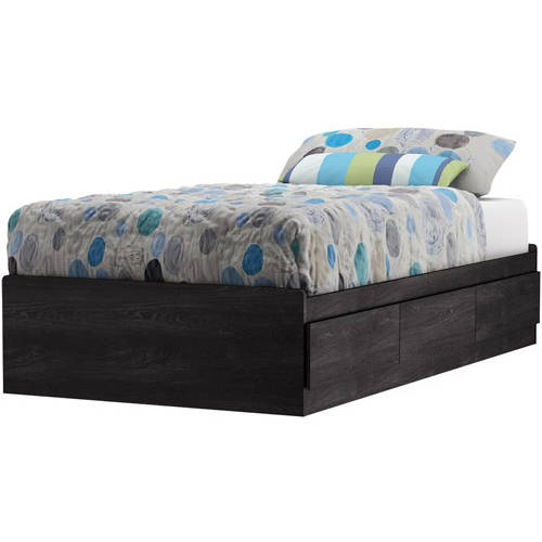 "South Shore Fynn Twin Mates Bed with 3 Drawers, 39"", Multiple Finishes"