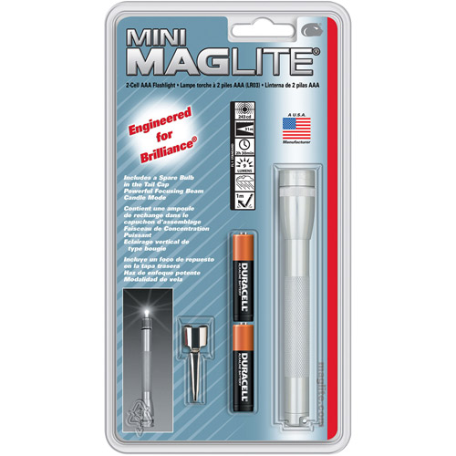 Mini Maglite AAA Blister Gray PewterFLSL