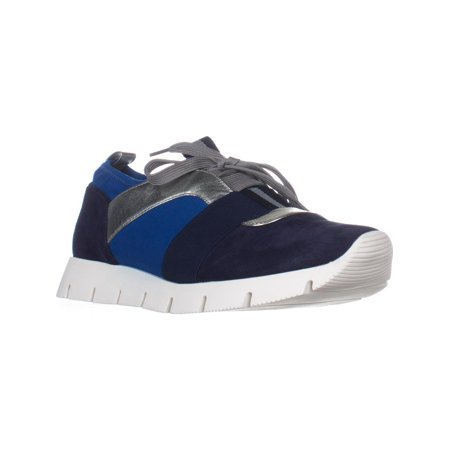 Womens Nine West Welldone Fashion Sneakers, Navy Multi (Nine West Gold Shoes)