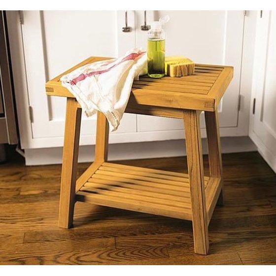 Swell Wholesaleteak Grade A Teak Wood Bath Stool Or Side Table Or Shower Bench Wmaxbs Inzonedesignstudio Interior Chair Design Inzonedesignstudiocom
