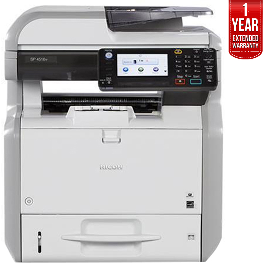 Ricoh Monochrome Printer with Scanner Copier and Fax (407302) with 1 Year Extended Warranty