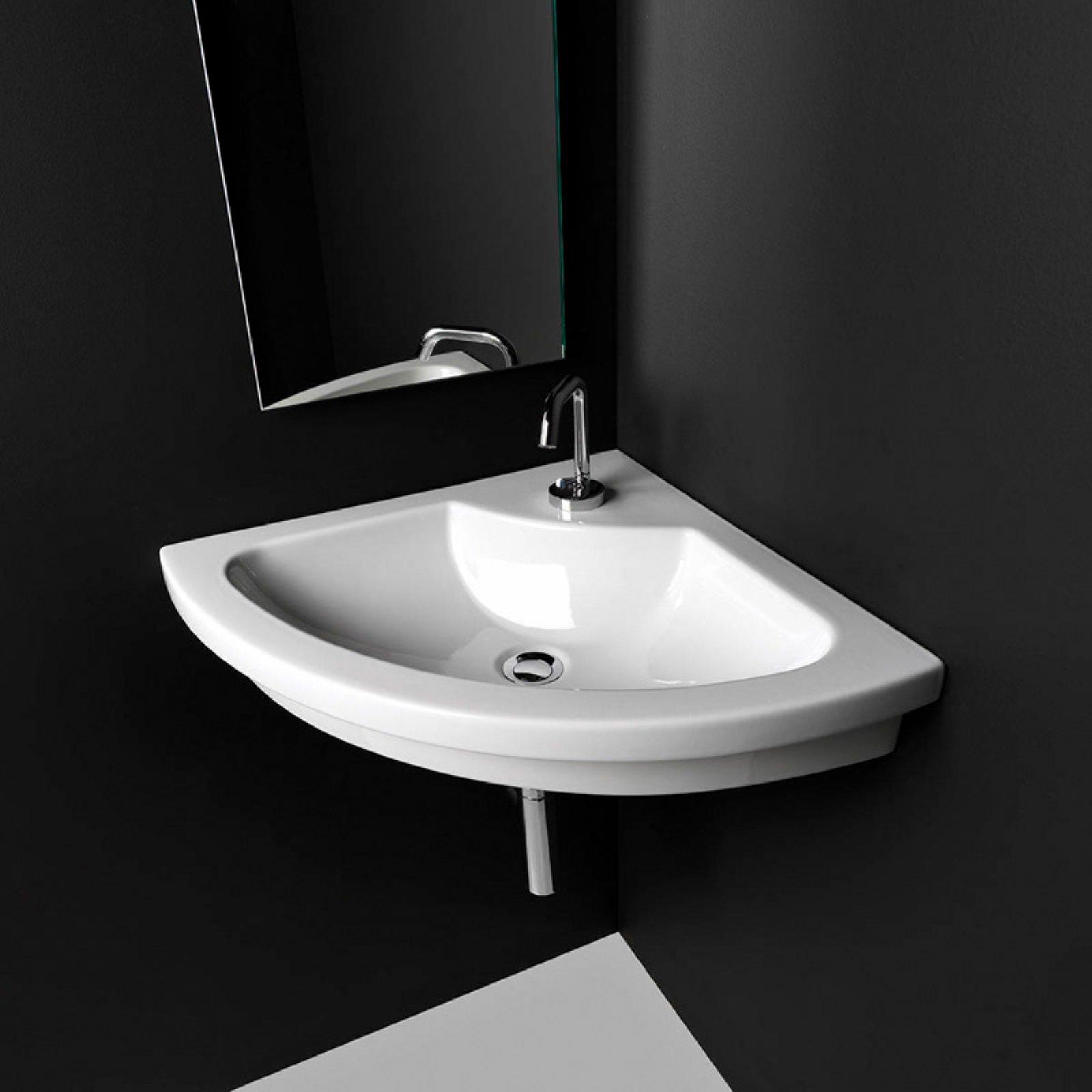 Ws Bath Collections Kart 57 Drop In Bathroom Corner Sink