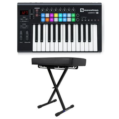 novation launchkey 25 mk2 25 key usb midi ableton live keyboard controller bench. Black Bedroom Furniture Sets. Home Design Ideas