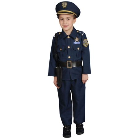 Toddler Deluxe Police Officer Costume (Police Dress Up Costume)