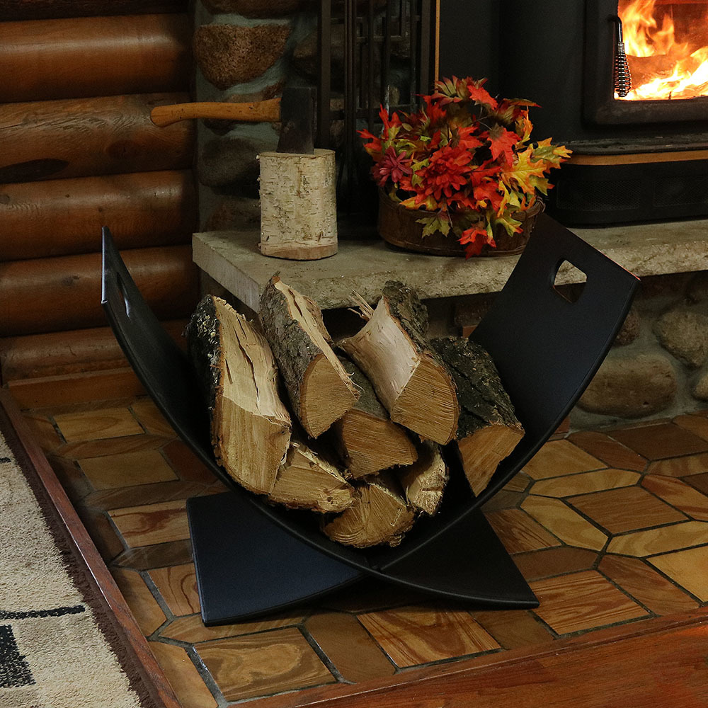 Sunnydaze 30 Inch Indoor/Outdoor Fireside Log Holder