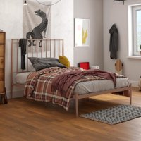 DHP Giulia Modern Metal Bed, Multiple Colors and Sizes