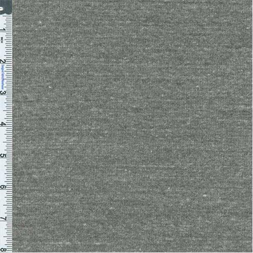 Grey Heather 1 x 1 Beefy Rib Knit, Fabric Sold By the Yard